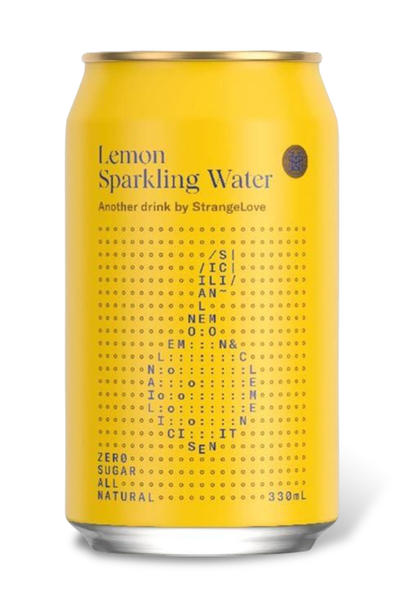 Lemon Sparkling Water by Strangelove