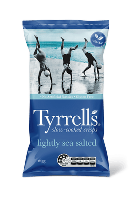 Lightly sea salted crisps by Tyrrells