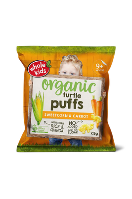 Sweetcorn carrot puffs by Whole Kids