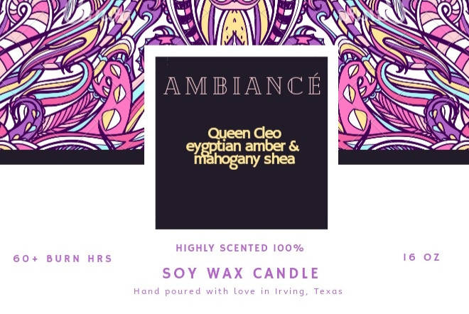 Queen Cleo/egyptian amber & mahogany shea scent