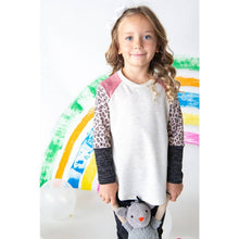 Load image into Gallery viewer, GIRLS ANIMAL PRINT SLEEVES TOP