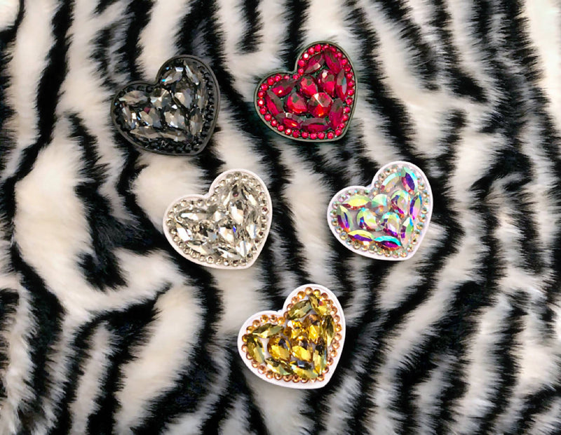 Heart PopSocket with rhinestones