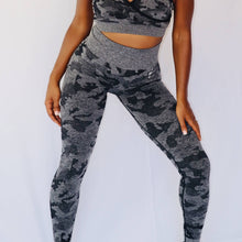 Load image into Gallery viewer, Camo Fitted Sports Bra