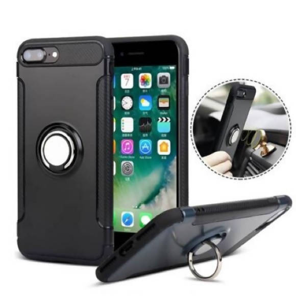 Red iPhone X/XS Phone Case with Ring Holder Kickstand