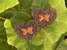 Load image into Gallery viewer, Brown Butterfly Heart Bows