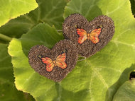 Brown Butterfly Heart Bows