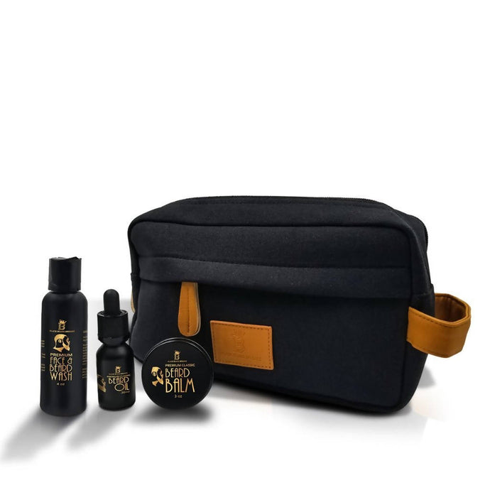 Black Beard Bundle w/ Balm & Dopp Bag