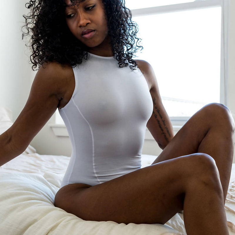 Hi-Neck Butter Bodysuit S/L