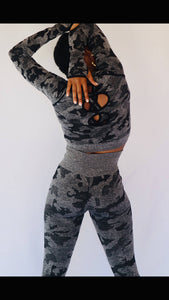 Camo Fitted Sports Bra