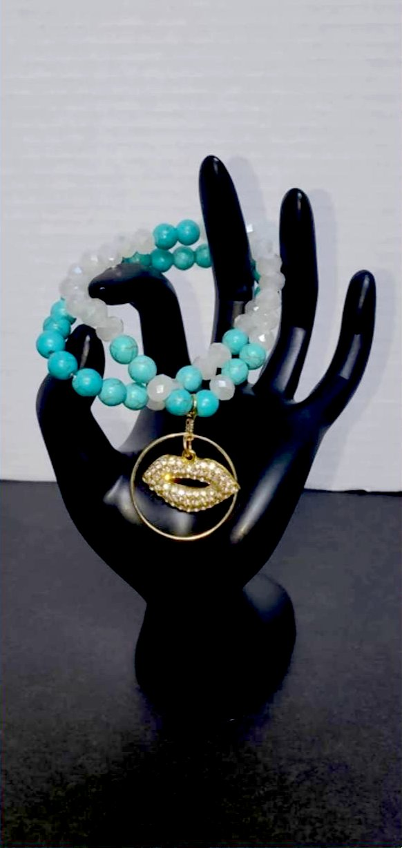 Waterfall Kiss Semiprecious stone Bracelet