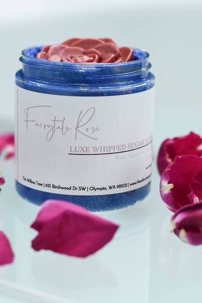 Fairytale Rose Whipped Sugar Scrub - Skin Care - The Willow Tree Co