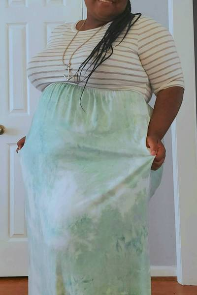 Plus Size Tie-Dye Maxi Dress - WOMENS DRESSES - Khi & Mommy Fashion Boutique
