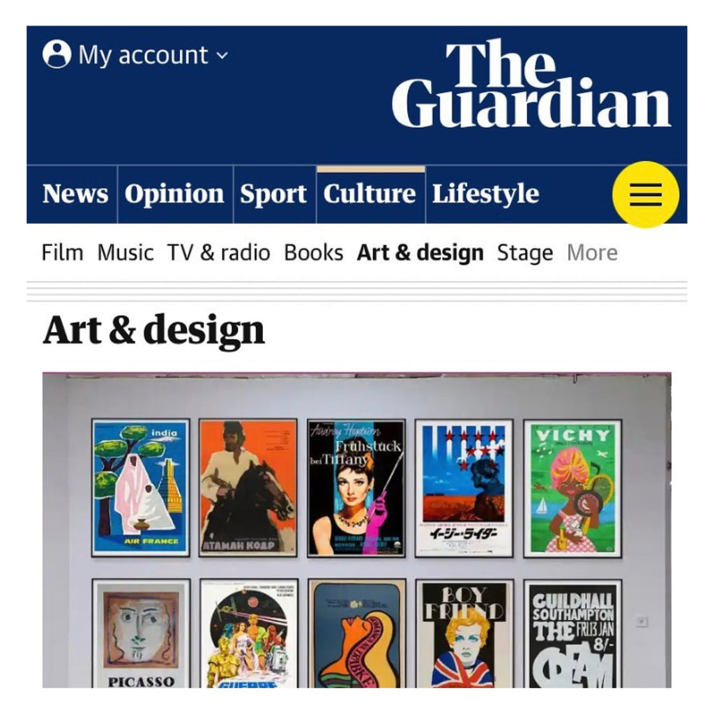 Guardian feature new vintage poster fair