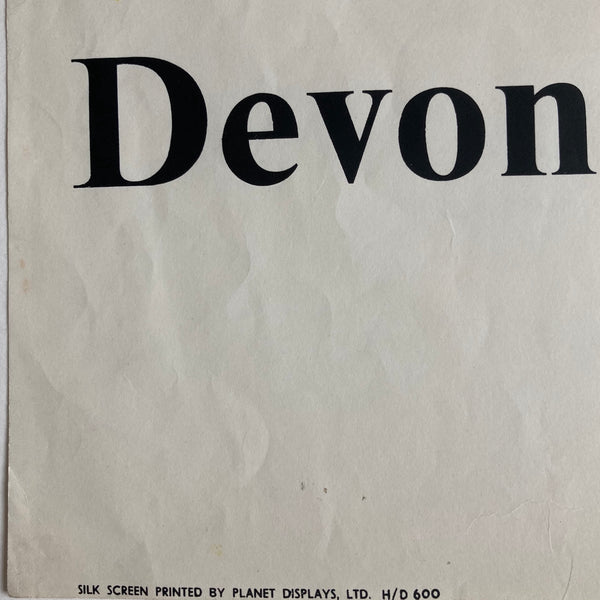 Devon and Cornwall Coach Poster