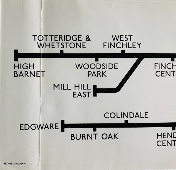 Northern Line Carriage Map