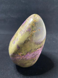 Stichtite in Green Serpentine (Atlantisite) Polished Stand