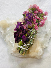 Load image into Gallery viewer, Floral Beauty Wand - Rosemary Statice Rose Carnation
