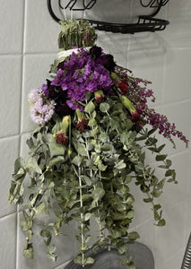 Floral Eucalyptus Shower Wand - Rose Statice Carnation Heather