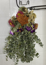 Load image into Gallery viewer, Floral Eucalyptus Shower Wand - Yarrow Statice Carnation Matsumoto Aster