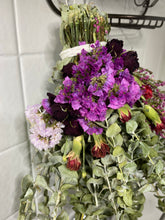 Load image into Gallery viewer, Floral Eucalyptus Shower Wand - Rose Statice Carnation Heather