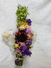 Load image into Gallery viewer, Floral Beauty Wand - Cedar Myrtle Statice Rose Ranunculus Sunflower