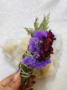 Floral Beauty Wand - Cedar Rosemary Statice Sunflower