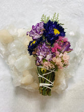 Load image into Gallery viewer, Floral Beauty Wand - Cedar Rose Carnation Matsumoto Aster Statice