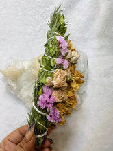 Load image into Gallery viewer, Floral Beauty Wand - Cedar Myrtle Rose Carnation Statice