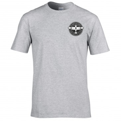 Basic Grey Badge Tee - Adult