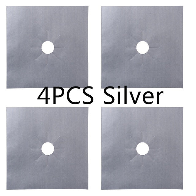 1/4PC Stove Cover Liner Gas Stove Protector