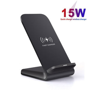 15W Qi Wireless Charger Stand For iPhone