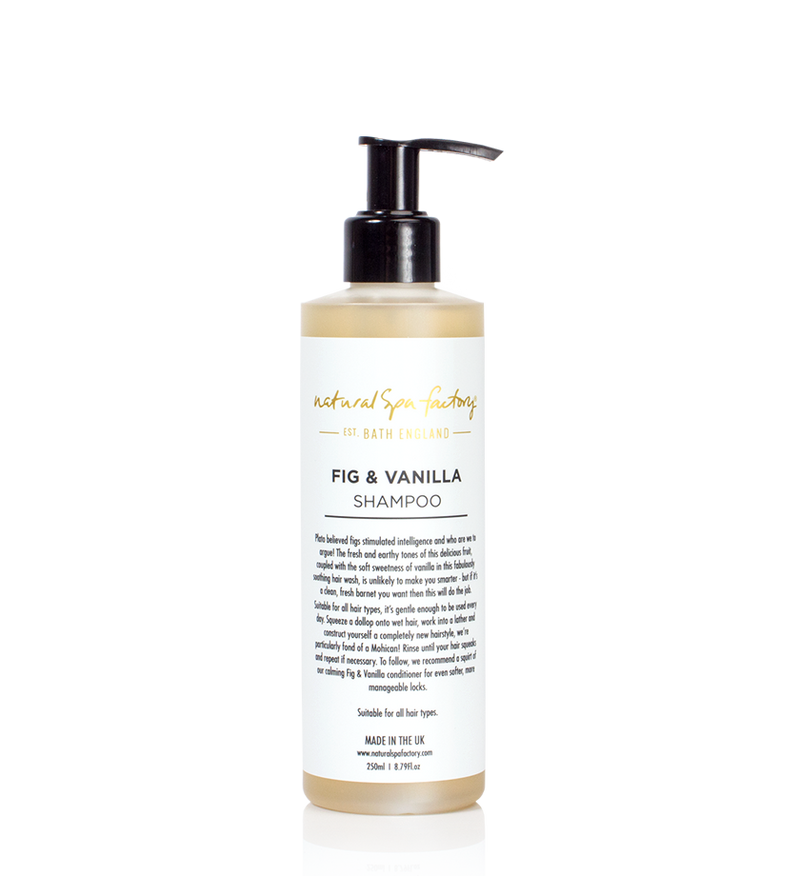 FIG & VANILLA PARABEN FREE SHAMPOO - SUITABLE FOR ALL HAIR TYPES (250ML) - VEGAN FRIENDLY