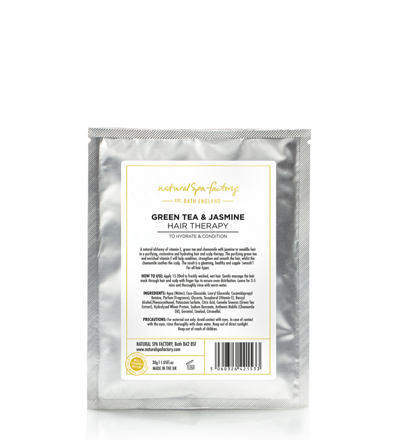 GREEN TEA & JASMINE HAIR THERAPY - TO HYDRATE & CONDITION (30G) - SET OF 3 - VEGAN FRIENDLY
