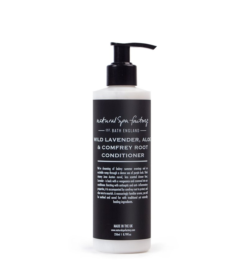 Wild Lavender, Aloe & Comfrey Root Conditioner - Suitable For All Hair Types (250ml) - Vegan Friendly