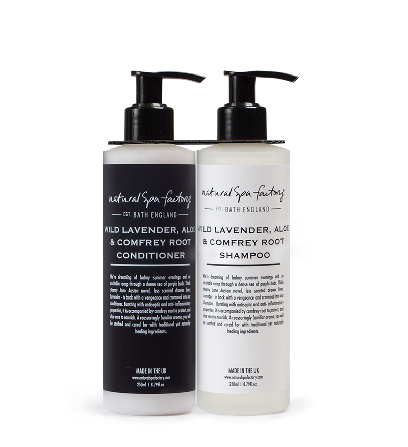 DOUBLE UP WILD LAVENDER, COMFREY ROOT AND ALOE SHAMPOO & CONDITIONER LOTION (250ML)