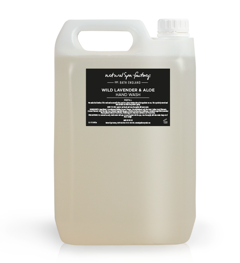 Wild Lavender, Aloe & Comfrey Root Hand Wash - Suitable For Every Body (5Ltr Refill) - Vegan Friendly