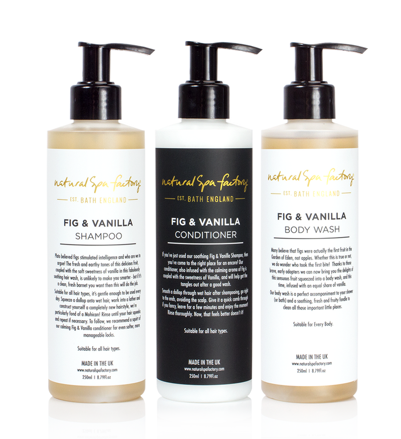 Triple Fig & Vanilla Set - Shampoo, Conditioner & Body Wash (3x250ml)