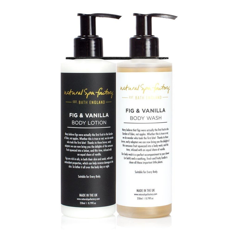 Fig & Vanilla Body Wash and Body Lotion Duo Set