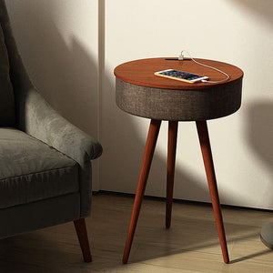 Open image in slideshow, Ava Nordic: Smart Table w/ Wireless Charging and Bluetooth Speaker