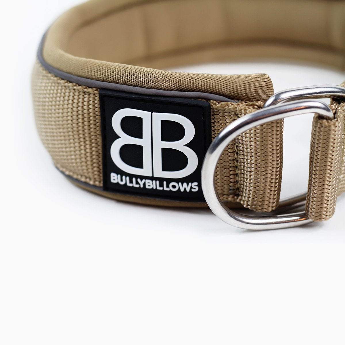 Bully Billows - 4cm Ramsey Range - Military Tan Dog Collar - Bulletproof Pet Products Inc