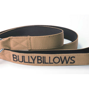 Bully Billows - Nylon Snap Hook Dog Lead - Military Tan - Bulletproof Pet Products Inc