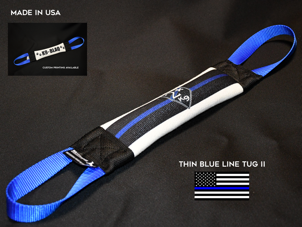 THIN BLUE LINE- II  FIRE HOSE TUG - FLAG SERIES - Bulletproof Pet Products Inc