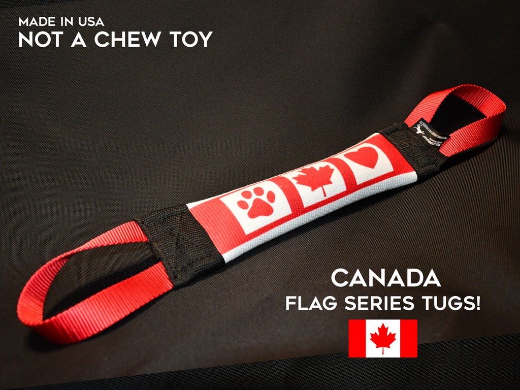 CANADA THEMED FLAG FIRE HOSE TUG - FLAG SERIES - Bulletproof Pet Products Inc