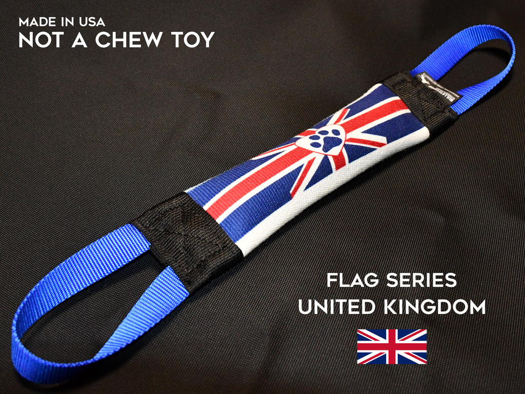 UNITED KINGDOM FIRE HOSE TUG - FLAG SERIES - Bulletproof Pet Products Inc