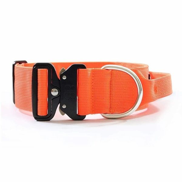 "Bully Billows 2"" (5CM) Combat Collar with handle- Orange - Bulletproof Pet Products Inc"