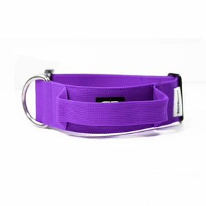 "Bully Billows 2"" (5CM) Combat Collar with handle - Purple - Bulletproof Pet Products Inc"