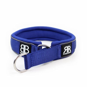 MARTINGALE RAMSEY RANGE 4CM COLLARS - BLUE - BY BULLY BILLOWS - Bulletproof Pet Products Inc