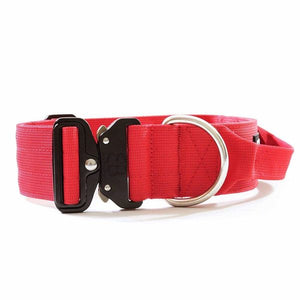 "Bully Billows 2"" (5CM) Combat Collar with handle - Red - Bulletproof Pet Products Inc"