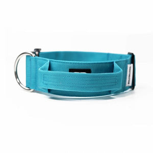 "Bully Billows 2"" (5CM) Combat Collar with handle - Teal Blue - Bulletproof Pet Products Inc"