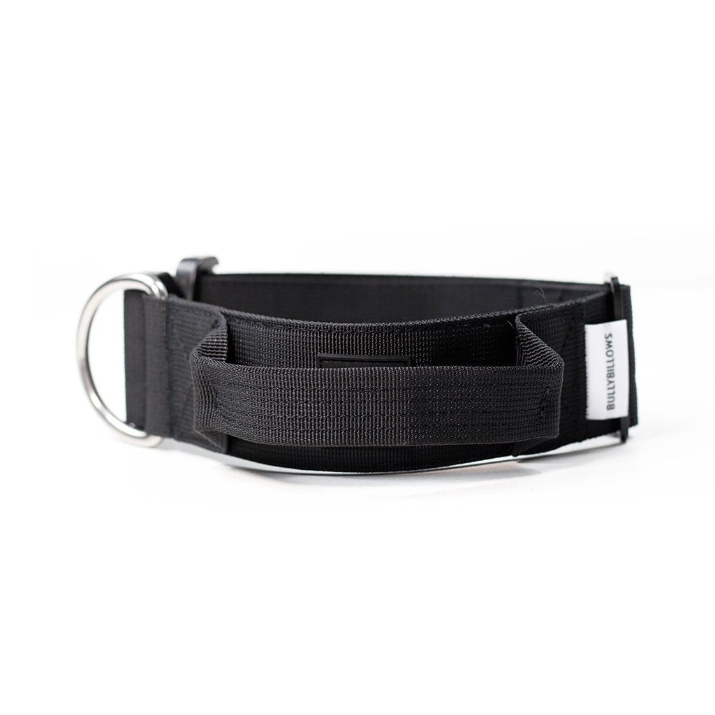 "Bully Billows 2"" (5CM) Combat Collar with handle - Black - Bulletproof Pet Products Inc"